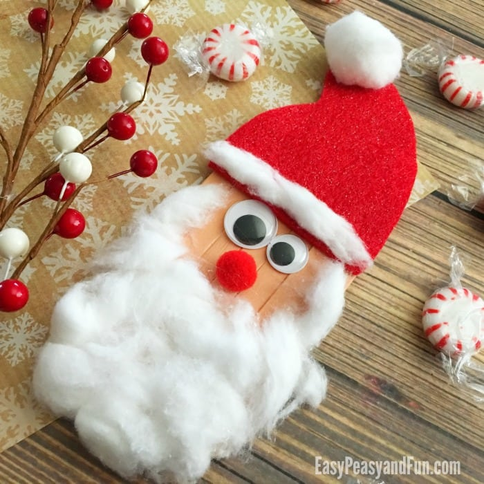craft sticks santa craft christmas crafts for kids - Christmas Decoration Crafts