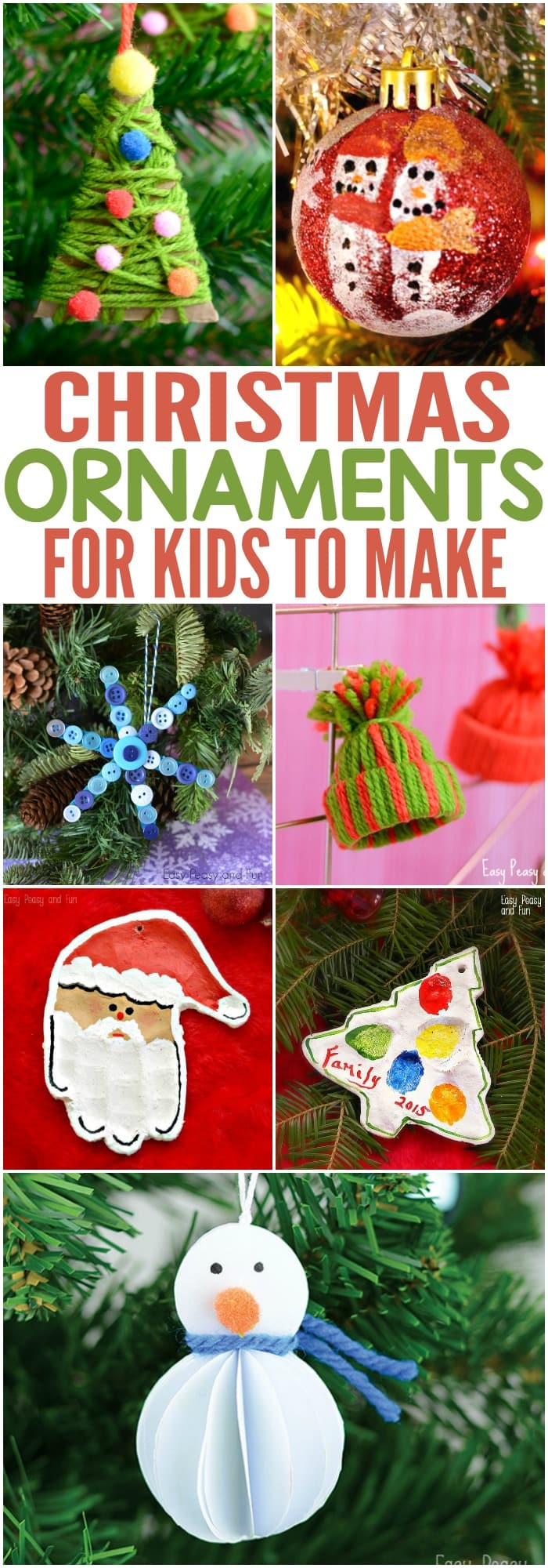 jolly diy christmas ornaments ideas homemade memories for kids - Christmas Decoration Craft Ideas