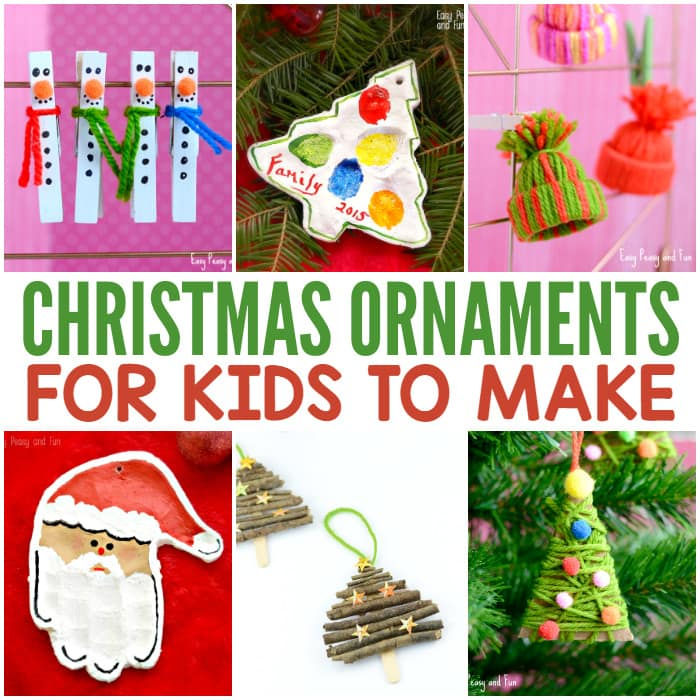 Cute Christmas Ornaments for Kids to Make