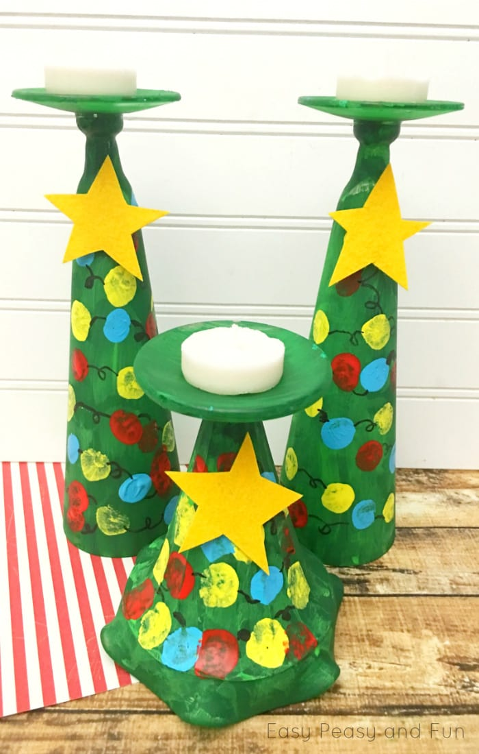 christmas tree candle holders kids can make kid made christmas gifts dont