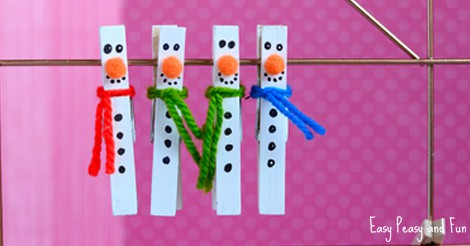 Clothespin Snowman Craft For Kids To Make Easy Peasy And Fun