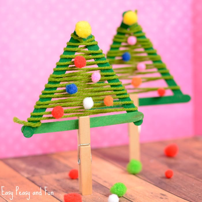 craft sticks christmas tree craft - Childrens Christmas Tree Decorations