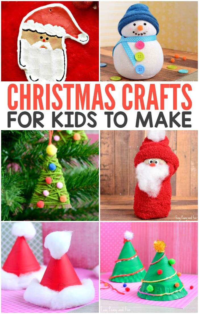 Cute Christmas Crafts for Kids to Make