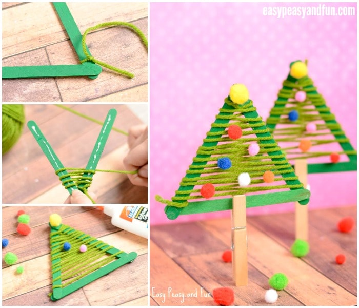 Cute Craft Sticks Christmas Tree Craft for Kids