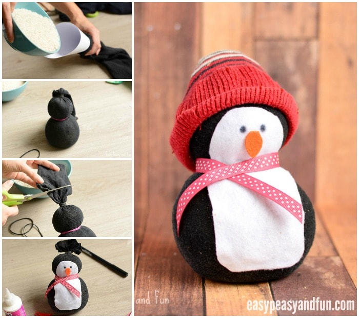 no sew sock penguin craft easy peasy and fun