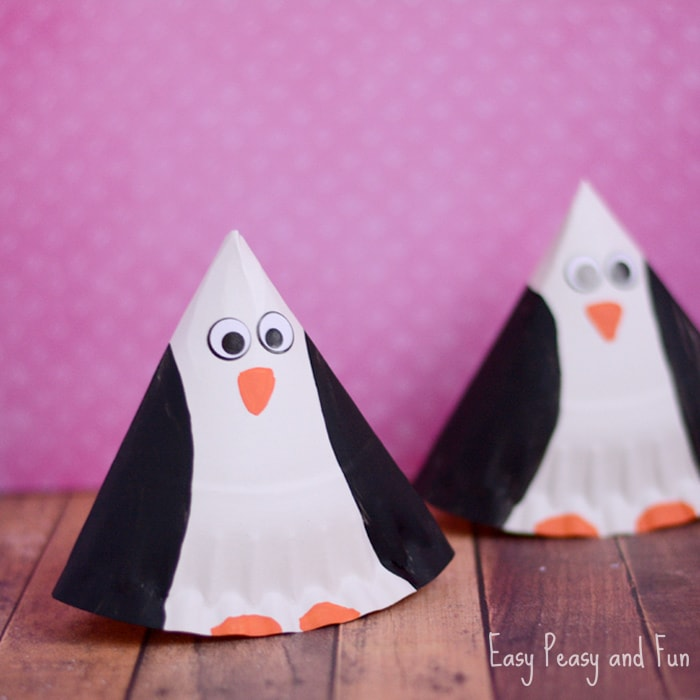Rocking Paper Plate Penguin Craft