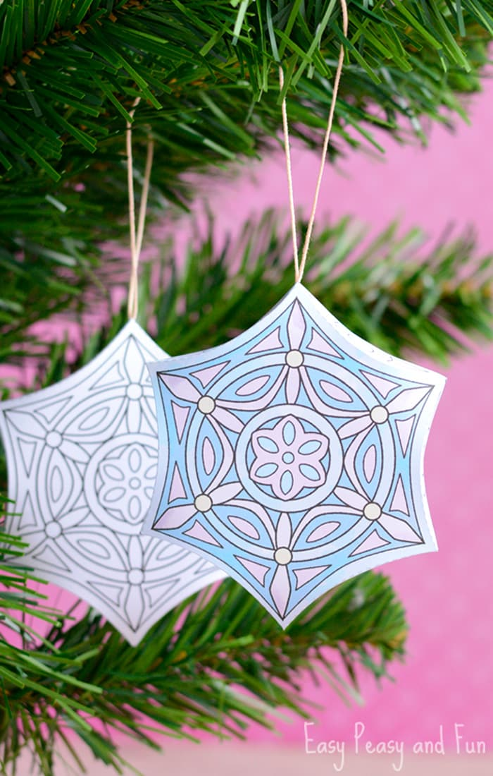 Cute Printable Christmas Ornaments to Color