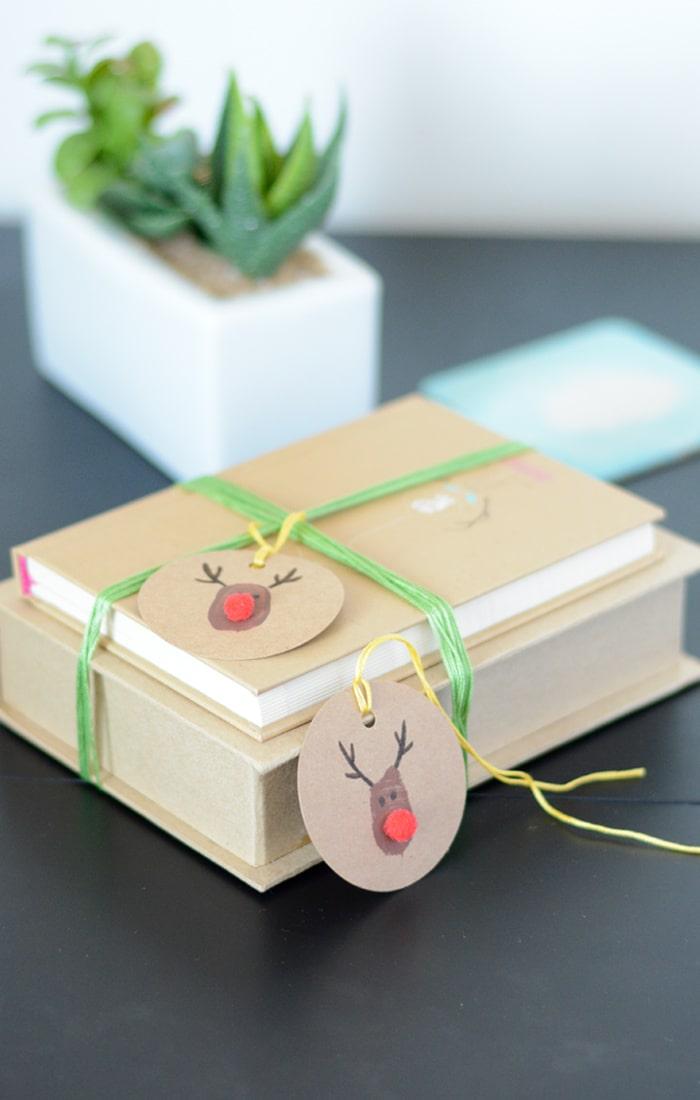 DIY Rudolph Geschenkanhänger