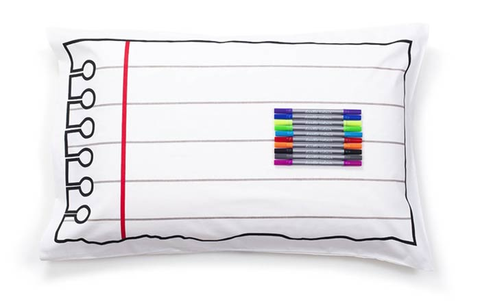 Doodle Cotton Pillowcase to Personalize and Decorate