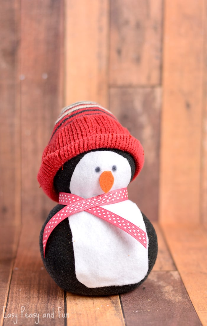 No-Sew Sock Penguin Craft - Easy Peasy and Fun