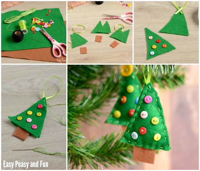 Felt Christmas Tree Ornament Craft for Little Ones