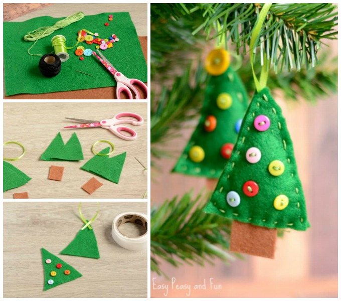 Felt Christmas Tree Ornament DIY