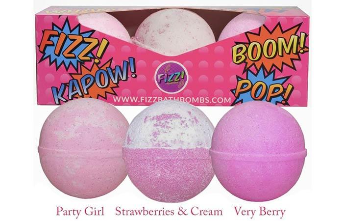 Fun Bath Bombs Lush Gift Set