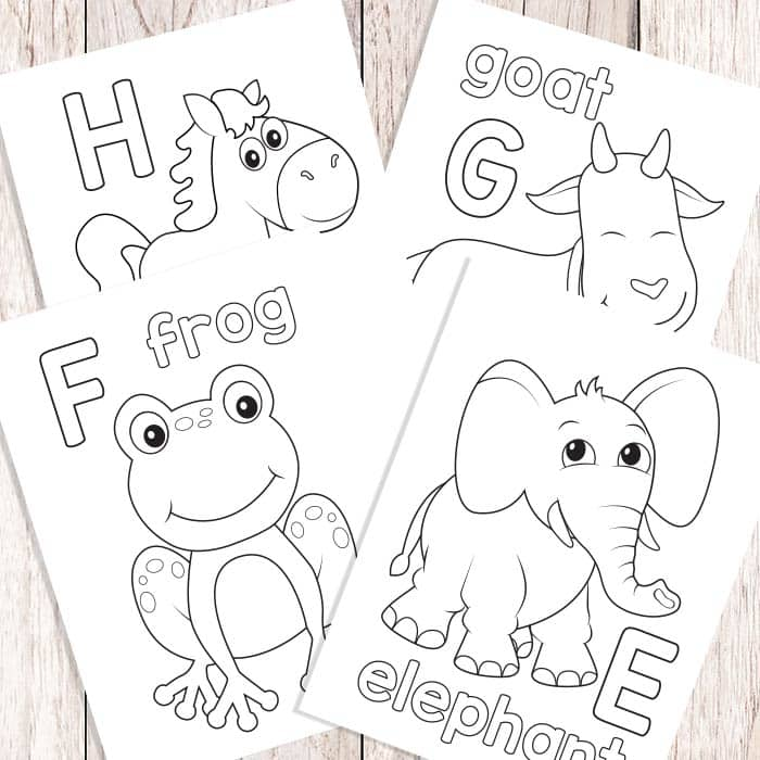 Easy Peasy Alphabet Coloring Book - ABC Coloring Pages ...