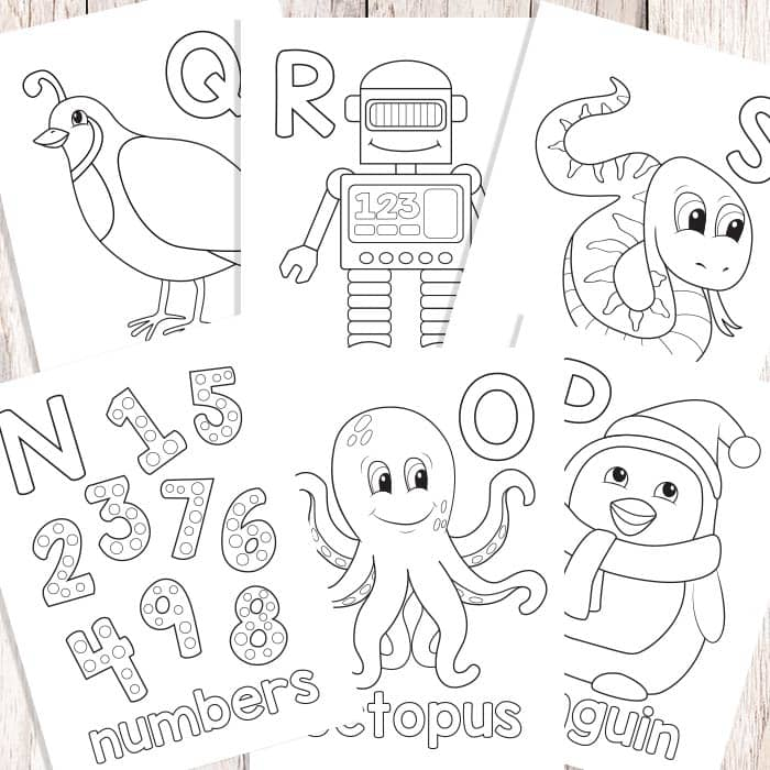 Easy Peasy Alphabet Coloring Book - ABC Coloring Pages - Easy ...