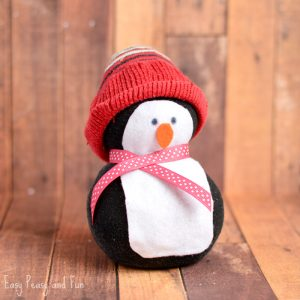 No-Sew Sock Penguin Craft for Kids
