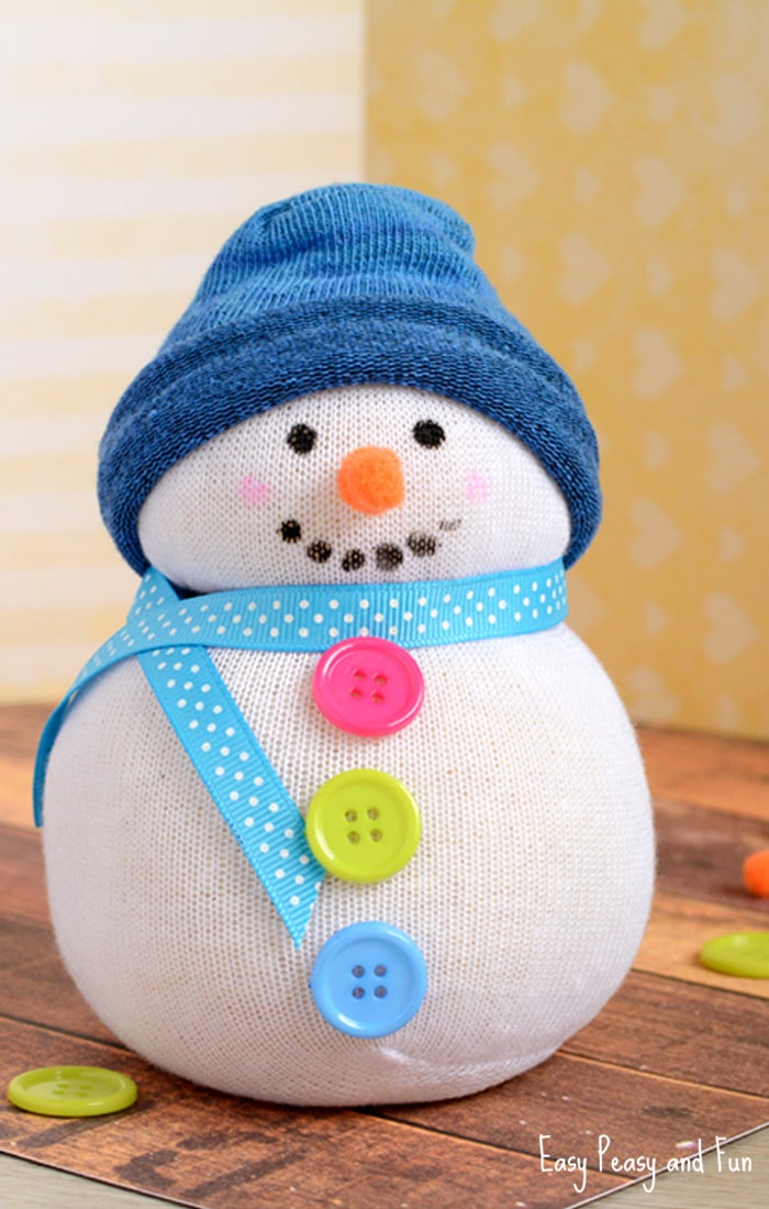 No-Sew Sock Snowman Craft for Kids & No-Sew Sock Snowman Craft - Easy Peasy and Fun