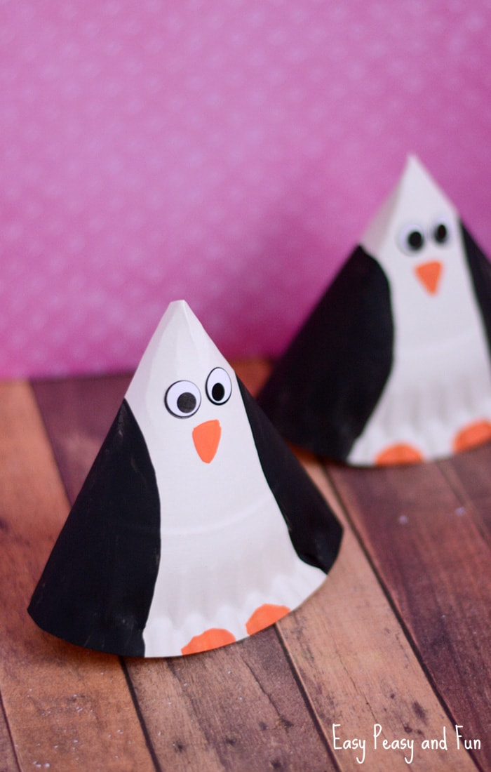 Cute Paper Plate Penguin Craft for Kids