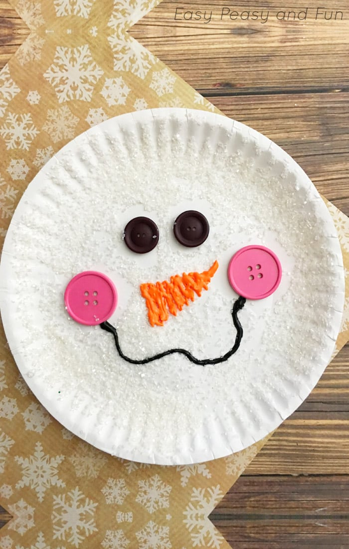 Paper Plate Snowman Craft for Kids & Paper Plate Snowman Craft - Winter Crafts for Kids - Easy Peasy and Fun