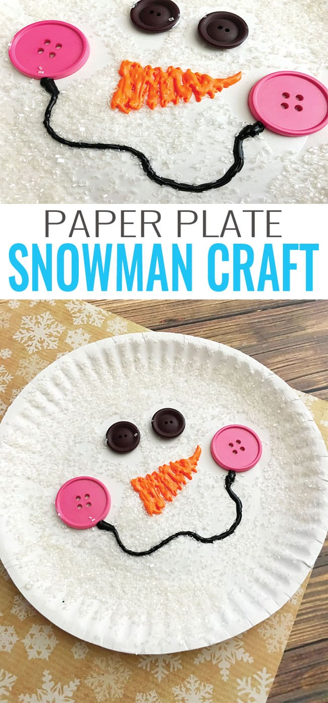 Paper plate snowman craft winter crafts for kids easy for Crafts to make with toddlers
