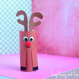 Paper Roll Rudolph Reindeer Craft