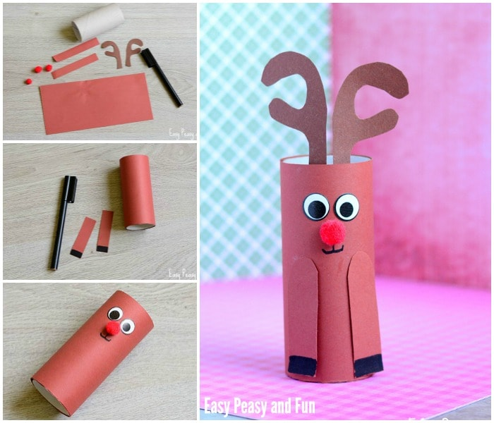 Paper Roll Rudolpf Reindeer Craft for Kids