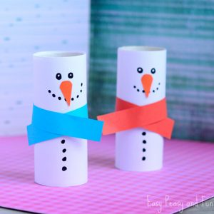 Paper Roll Snowman Craft