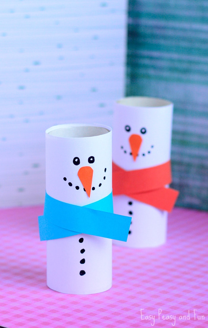 Paper Roll Snowman Craft - Winter Crafts for Kids - Easy ...