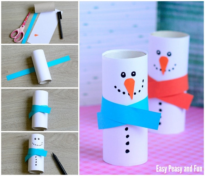 Paper Roll Snowman Craft for your Little Ones