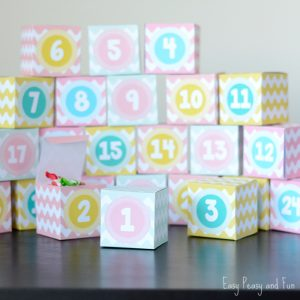 Printable Advent Calendar Boxes