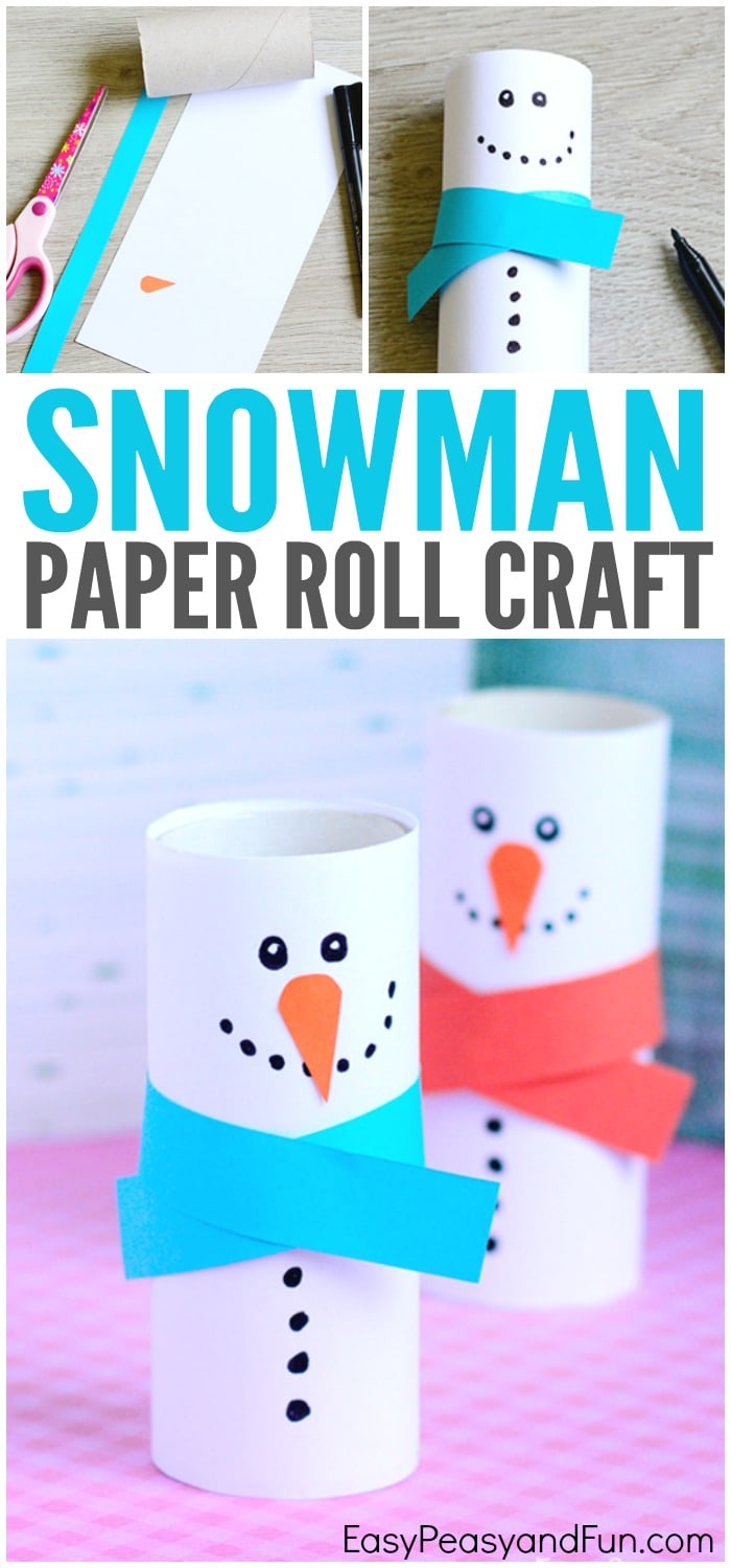 paper roll snowman craft winter crafts for kids easy peasy and fun
