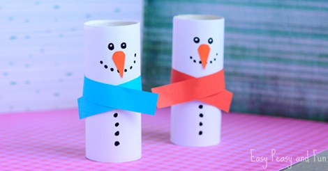 Paper Roll Snowman Craft Winter Crafts For Kids Easy