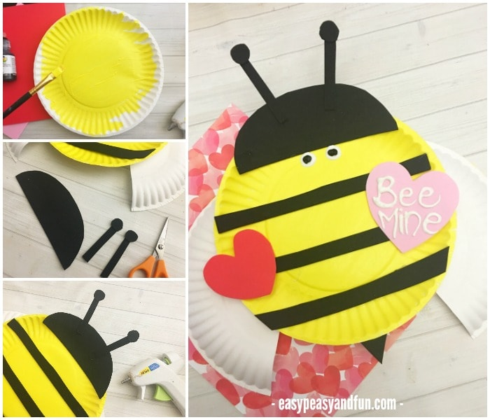 Classroom Ideas For Valentines Day ~ Bee mine valentines day paper plate craft easy peasy and fun