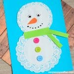 Cute Doily Snowman Craft