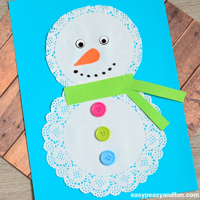 Doily Snowman Craft