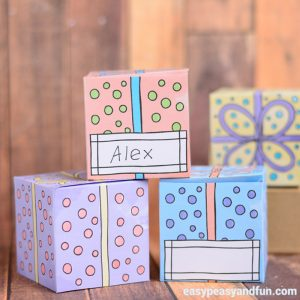 Cute Printable Gift Boxes