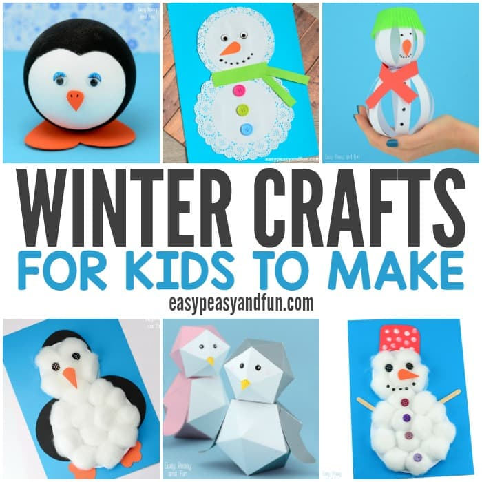 winter crafts for kids to make fun art and craft ideas