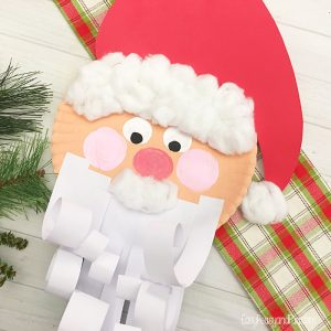 Fun Paper Plate Santa Craft