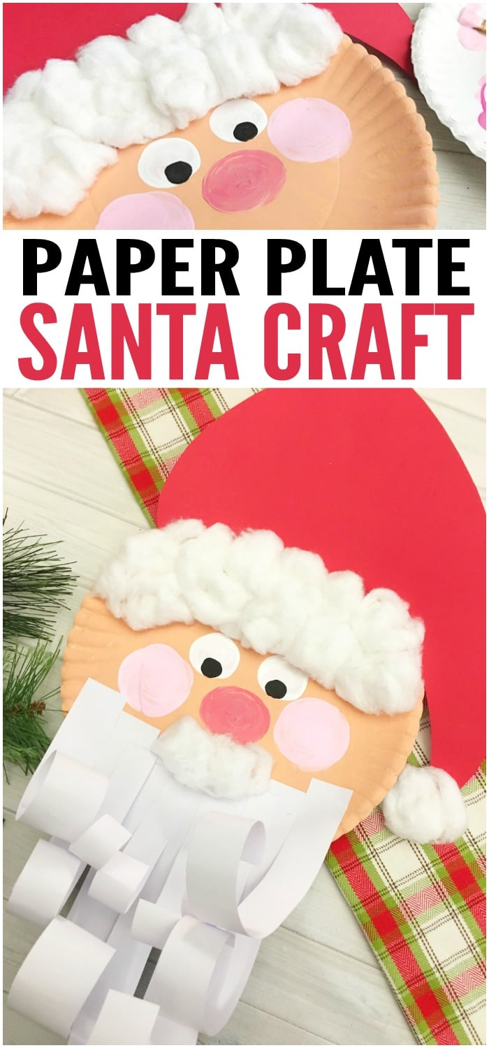 jolly santa paper plate craft jolly santa paper plate craft easy peasy and 6859
