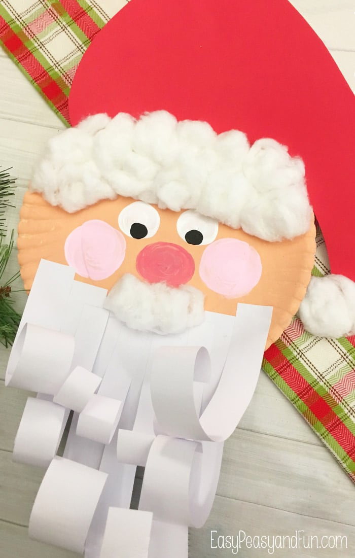 Jolly Santa Paper Plate Craft & Jolly Santa Paper Plate Craft - Easy Peasy and Fun