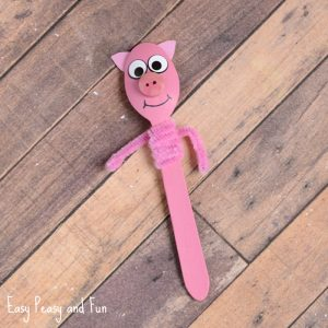 Wooden Spoon Pig Craft