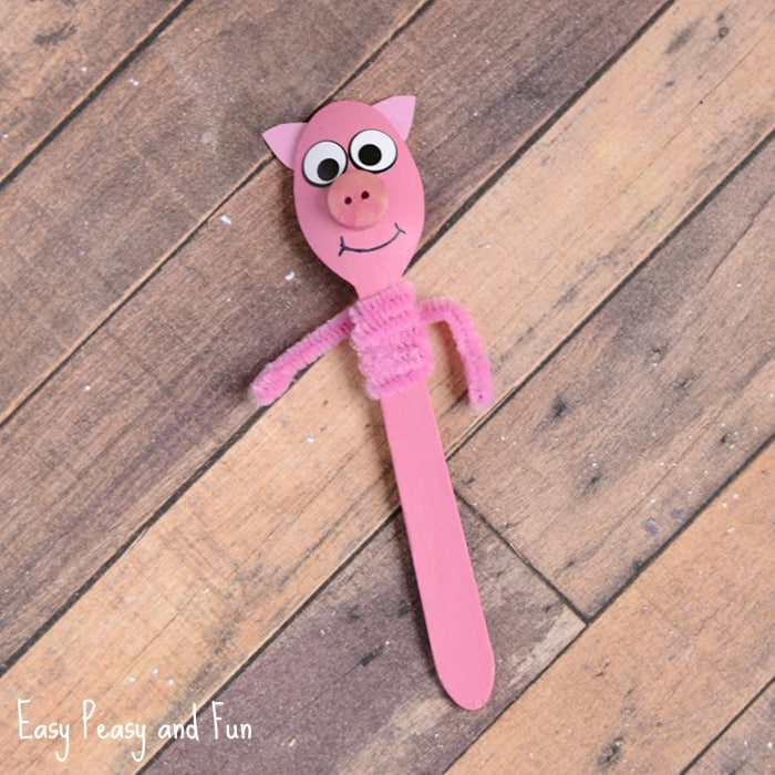 Pig Wooden Spoon Craft