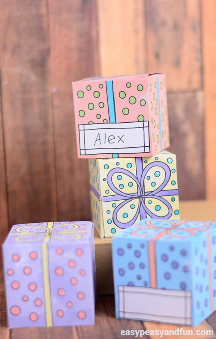 Adorable Printable Gift Boxes