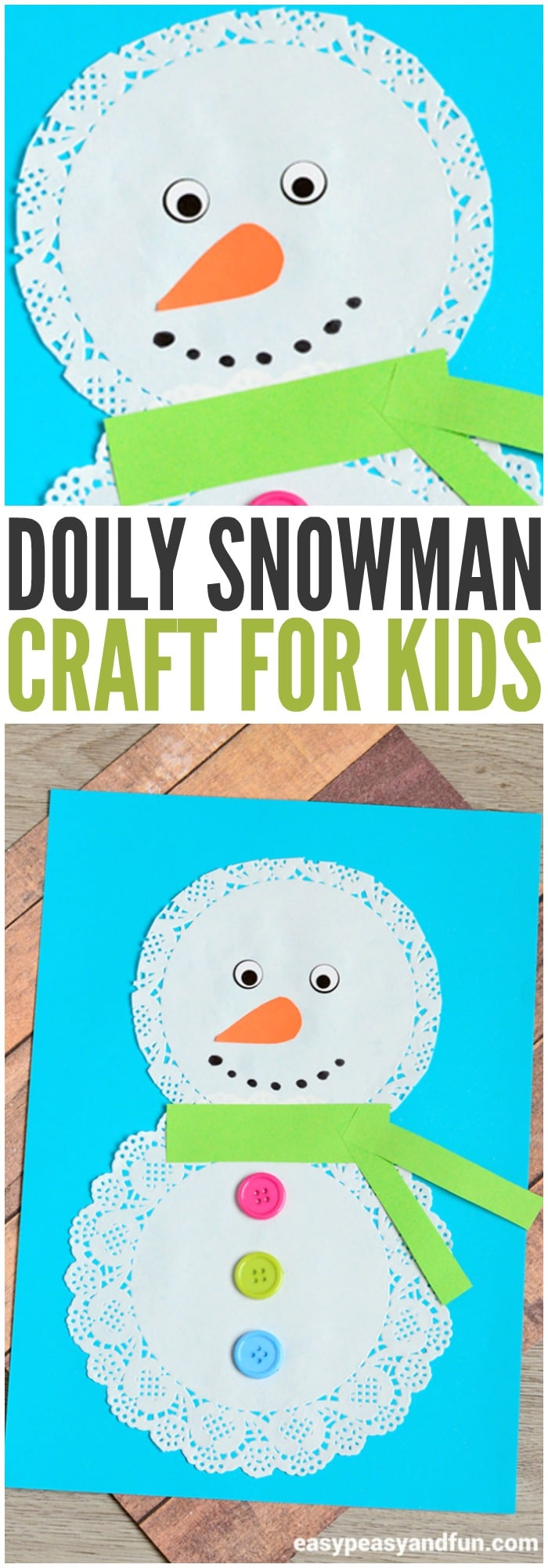 preschool winter crafts ideas doily snowman craft easy peasy and 5273