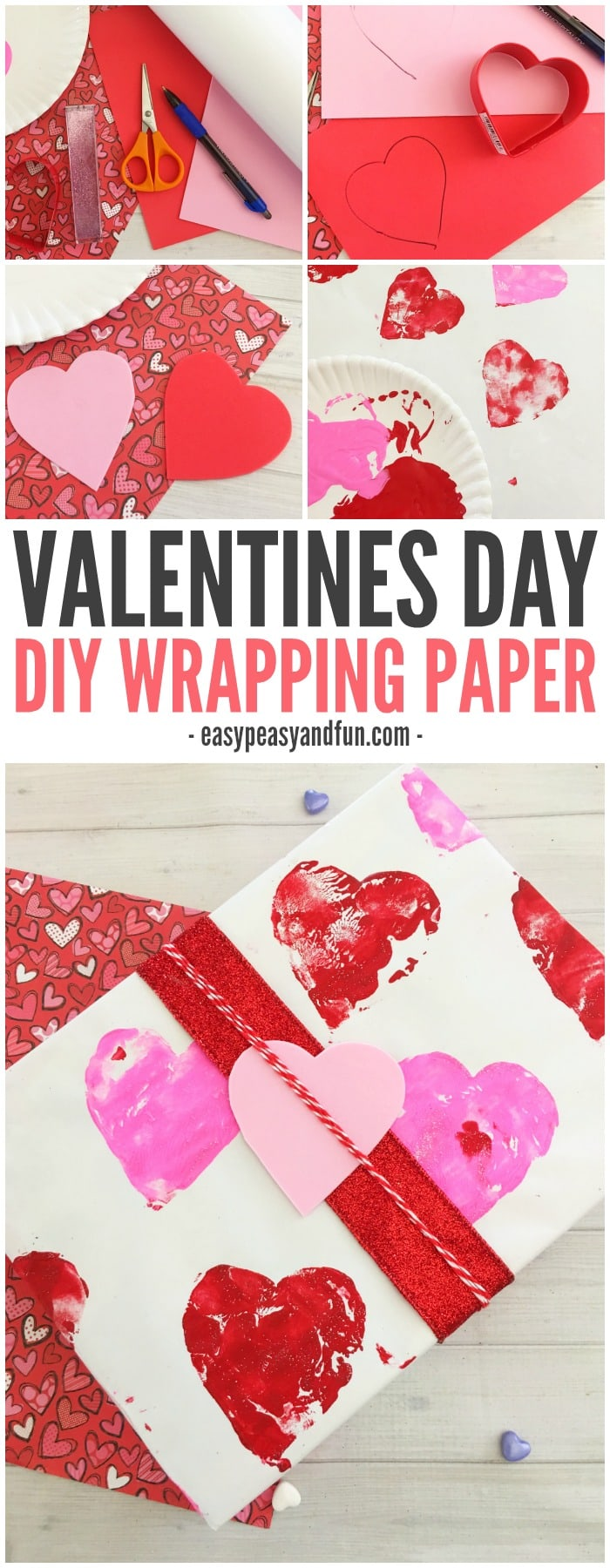 simple valentines day diy wrapping paper - Valentines Day Wrapping Paper