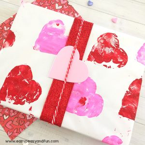 Valentines Day Wrapping Paper Art Project