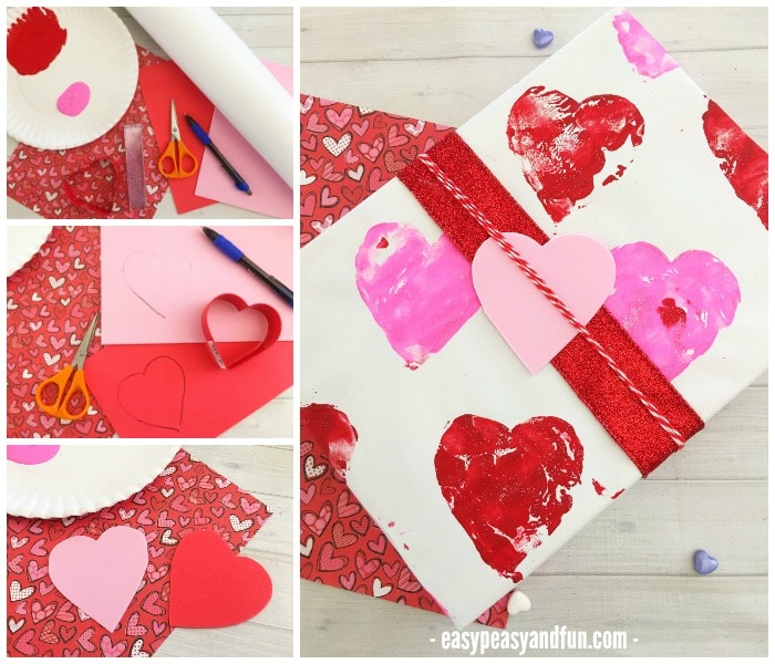Valentines Day Wrapping Paper Craft