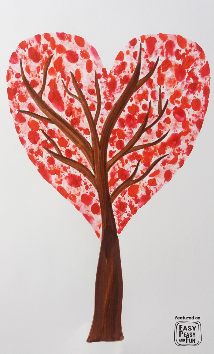 Wonderful Valentines Day Art Project for Kids - perfect fingerprint idea for classroom