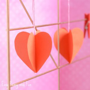 3D Paper Heart Craft