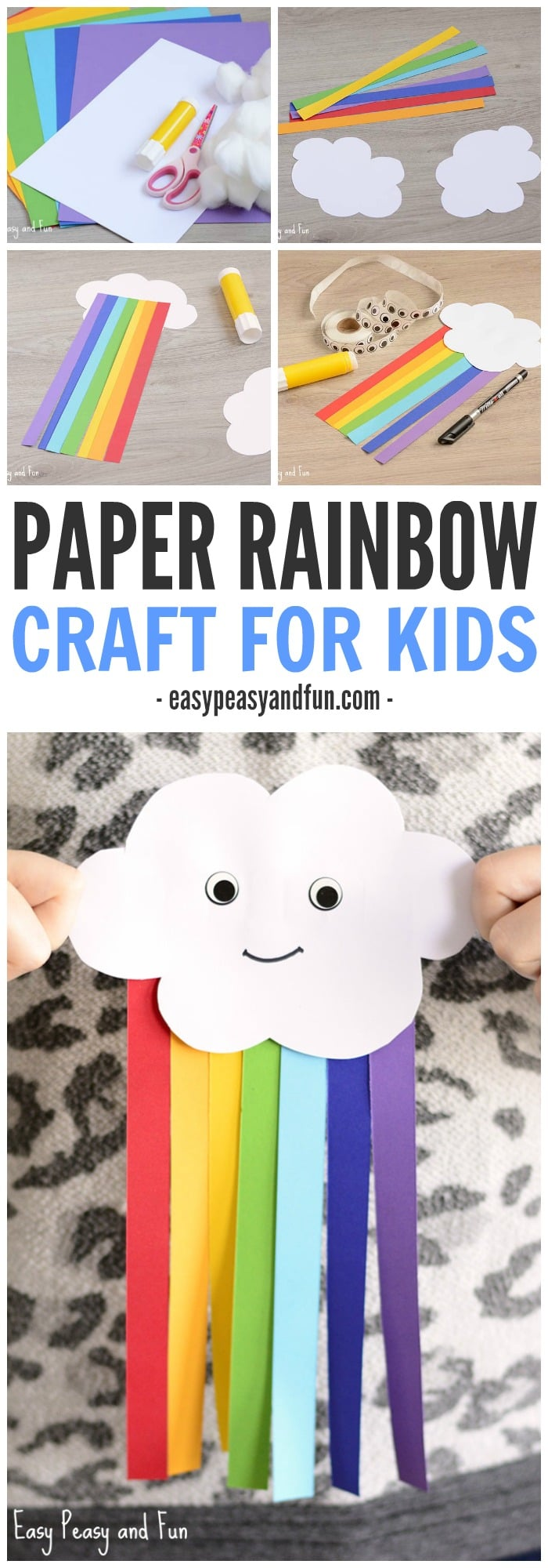 Classroom Decoration Rainbow ~ Cute paper rainbow kid craft easy peasy and fun